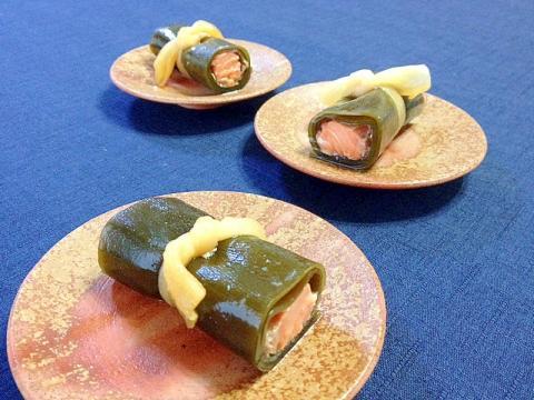 おせち(冷凍保存OK)☆鮭の昆布巻き