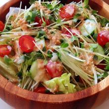 手作りみそドレッシング♪野菜サラダ♪