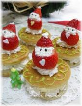 ☆★ホットケーキミックスで小さなクリスマスケーキ★