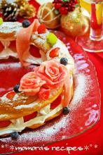 HMで簡単♡シューケーキのクリスマスリース
