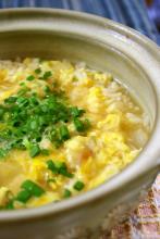 (胃に優しい)梅と卵の雑炊(温まる)
