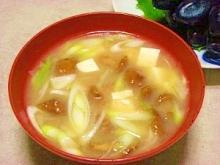 毎日のお味噌汁100杯目*たっぷり葱とナメコ