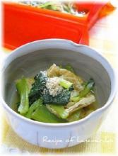 シリコンスチーマーで箸休め!小松菜と油揚げの煮浸し